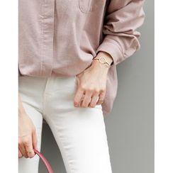 UPTOWNHOLIC - Metallic Cotton Blend Bracelet
