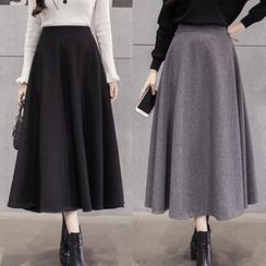 Glen Glam - A-line Knit Skirt