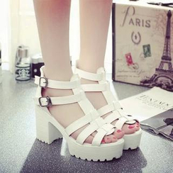 SouthBay Shoes - Platform Chunky Heel Sandals