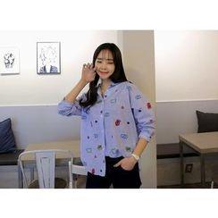 Envy Look - Long-Sleeve Printed Shirt