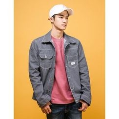 STYLEMAN - Stripe Denim Jacket