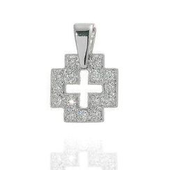 Keleo - 18K White Gold Diamond Pendant