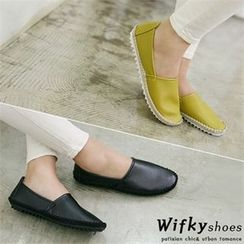 Wifky - Faux-Leather Slip-Ons