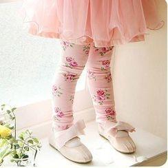 Cuckoo - Kids Floral Print Skinny Pants