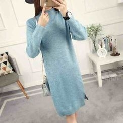 anzoveve - Mock Neck Knit Dress