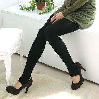 YESSTYLE: 59 Seconds- Brushed Fleece Lined Stirrup Tights (Black - One Size) - Free International Shipping on orders over $150