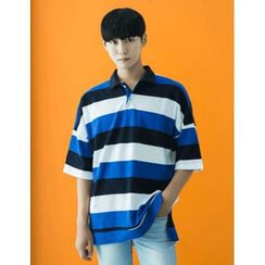 STYLEMAN - Short-Sleeve Color-Block Polo Shirt
