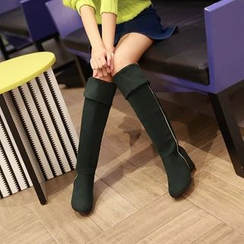 Pastel Pairs - Hidden Wedge Over The Knee Boots