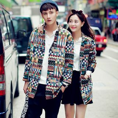 Evolu Fashion - Couple Matching Patterned Jacket