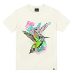 the shirts - Bird & Flower Print T-Shirt