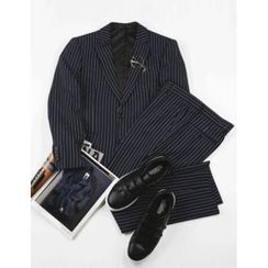 STYLEMAN - Set: Single-Breasted Striped Jacket + Dress Pants