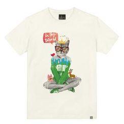 the shirts - Cat Print T-Shirt