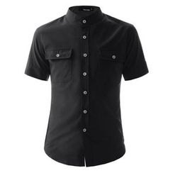 TheLees - Short-Sleeve Mandarin-Collar Shirt