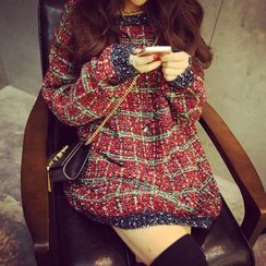 Hibisco - Plaid Thick Sweater