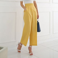 DABAGIRL - Flat-Front Straight-Cut Pants