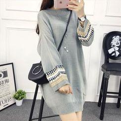 Emeline - Patterned Long Sweater
