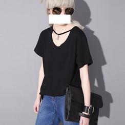 Sonne - Cutout-Front Pendant-Accent T-Shirt