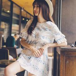 微米家 - 刺绣短袖裙衣