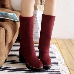 Sidewalk - Block Heel Mid Cuff Boots