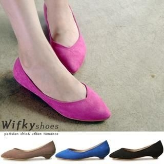 Wifky - Pointy-Toe Kitten-Heel Pumps