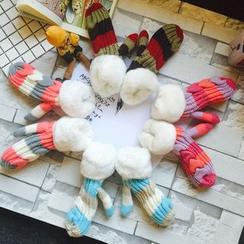 Hats 'n' Tales - Striped Knit Mittens