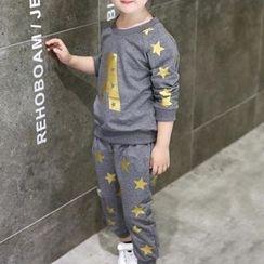 Matatabi - Kids Set: Printed Pullover + Printed Pants