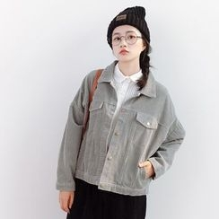 Forest Girl - Corduroy Button Jacket