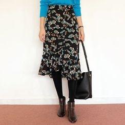 WITH IPUN - Leopard Print Mermaid Skirt