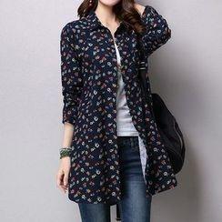 Donnae - Floral Print Long Shirt