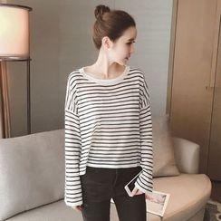 Munai - Long-Sleeve Striped Knit Top