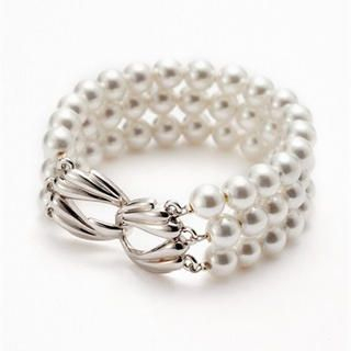 Moonbasa - Faux-Pearl Multi-Row Bracelet
