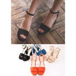 Chlo.D.Manon - Ankle-Strap Faux-Suede Sandals