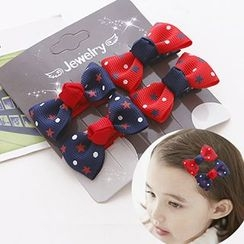Miss Floral - Kids Bow Hair Clip Set