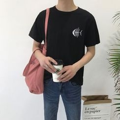 Breeson - Embroidered Short-Sleeve T-Shirt