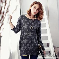 OrangeBear - Long-Sleeve Star-Print Top