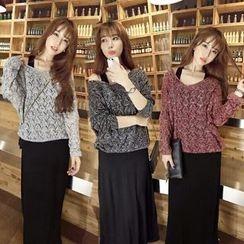 Fancy Show - Set: Knit Top + Sleeveless Dress