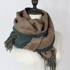 Ms Bean - Fringed Double Sided Scarf