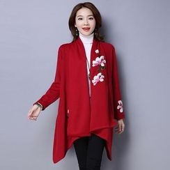 Supernova - Floral Embroidered Long Cardigan