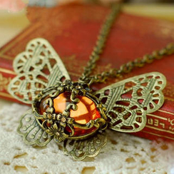 JVL - Jeweled Butterfly Pendant