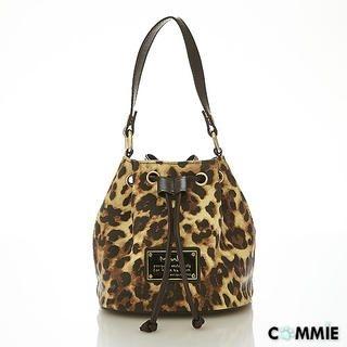 B.B. HOUSE - Faux-Leather Leopard-Print Bucket Bag