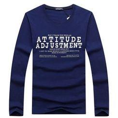 Champking - Long-Sleeve Lettering T-Shirt