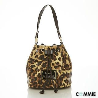 B.B. HOUSE - Faux-Leather Leopard-Print Bucket Bag