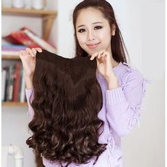 SEVENQ - Clip-on Hair Extension - Wavy