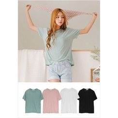 GOROKE - Round-Neck Colored T-Shirt