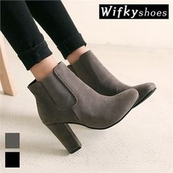 Wifky - Almond-Toe Faux-Suede Ankle Boots