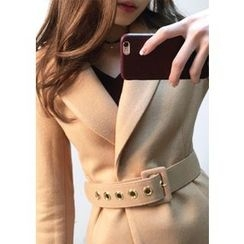 Chlo.D.Manon - Notched-Lapel Wool Blend Belted Coat