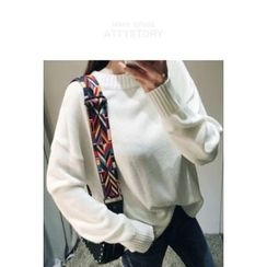 ATTYSTORY - Round-Neck Knit Top