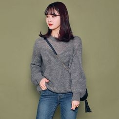 HOTPING - Puff-Sleeve Knit Sweater