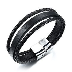 Creole - Woven Genuine Leather Bracelet
