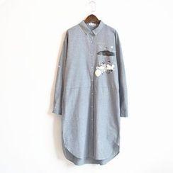 Waypoints - Linen Cotton Long-Sleeve Shirtdress